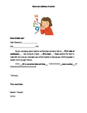 Chinese/English Parent Teacher Conference Letter