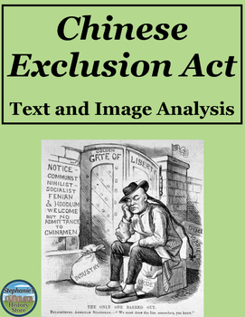 Chinese Exclusion Act of 1882 Text and Image Analysis