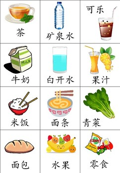 Chinese Flashcard - Food & Drink