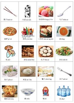 Chinese Food Bingo 中文食物宾果