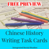 Chinese History Writing Task Cards: Free Preview
