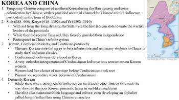 Chinese Influence in Korea, Japan and Vietnam