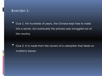 Chinese Inventions Game (Powerpoint)