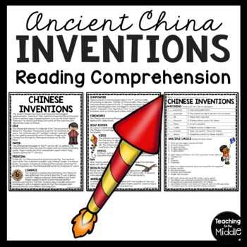 chinese inventions comprehension