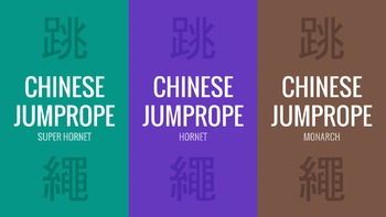 3 Chinese Jump Rope BUNDLE   Physical Education Presentations