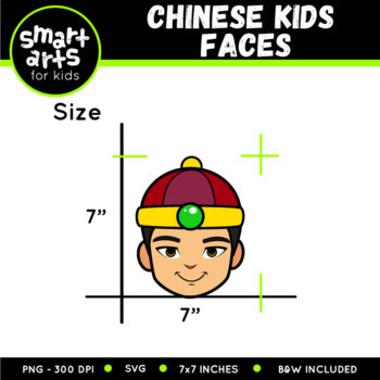 Chinese Kids Faces Clip Art