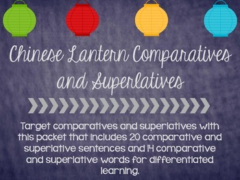Chinese Lantern Comparatives and Superlatives