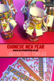 Chinese Lantern Craft Template – Colour
