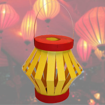 Chinese Lantern made from a cheese box