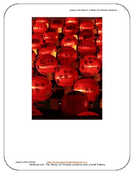 Chinese Lanterns:Art Drawing History Lesson ELA Literacy Circle Discussion