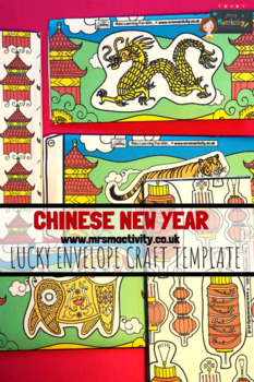 Chinese Lucky Envelope Craft Template – Colour