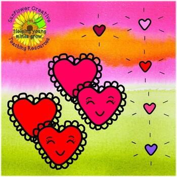 Cute Hearts Valentine's Day Clip Art