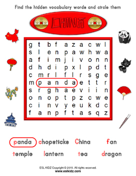 Chinese Lunar New Year Word Search