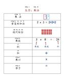 Chinese Math Vocabulary - Multiplication