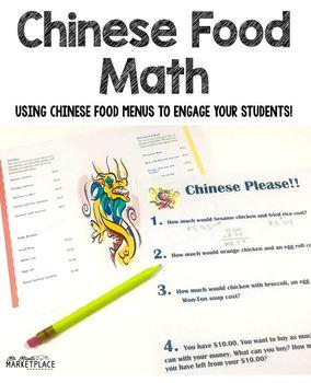 Chinese Menu Math