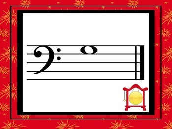 Chinese Instrument - Treble and Bass Clef Flashcards with Sorting Activity