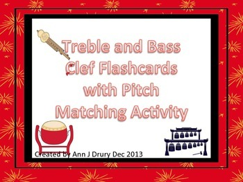 Chinese Instrument - Treble and Bass Clef Flashcards with