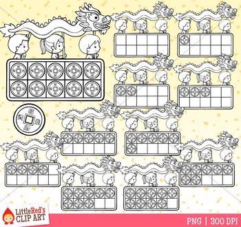 Chinese New Year 10 Frames Clip Art FREEBIE