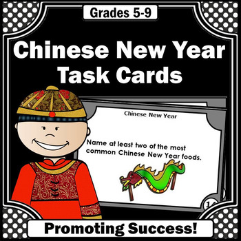 Chinese New Year 2018 Activities, Social Studies Task Cards