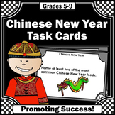 Chinese New Year Activities, Social Studies Task Cards