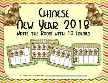 Chinese New Year 2018 - Counting with Ten Frames {Subitizing}