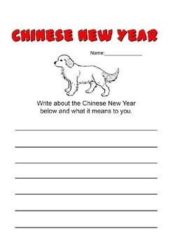 Chinese New Year 2018 Activity Pack