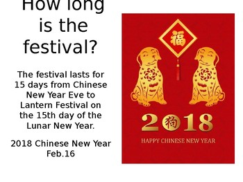 Chinese New Year 2018 Culture Introductioin
