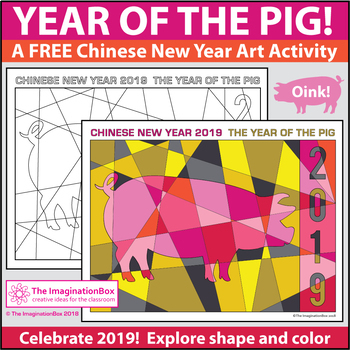 Chinese New Year 2019 Free Coloring