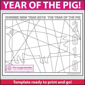Chinese New Year 2019 Free Coloring Pages By The Imagination Box