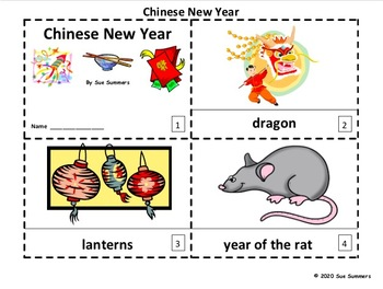 Chinese New Year 2020 - 2 Emergent Reader Booklets in English - Year of the Rat