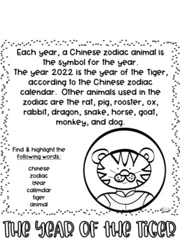 Chinese New Year 2020 Flip Book!  Year of the Rat!  Find & Highlight!
