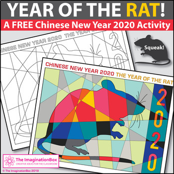 Chinese New Year 2020 Free Rat Coloring Pages