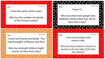 The History, Beliefs, and Traditions of Chinese New Year I Have Who Has Activity