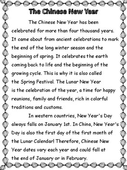 Social Studies: Chinese New Year