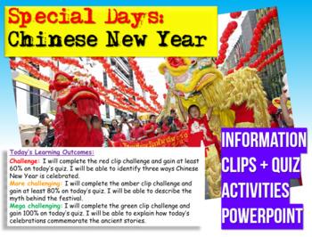 Chinese New Year - Presentation, Quiz + Activity