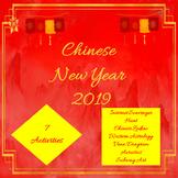 Chinese New Year Activities 2019-Internet Scavenger Hunt, Zodiac, Venn Diagram