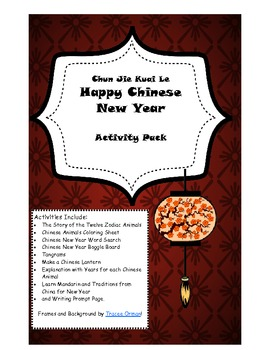 Chinese New Year Activities Pack