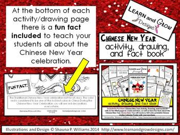 Chinese New Year Activity, Drawing, and Fact Book