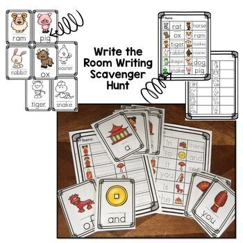 Chinese New Year Preschool Activities - Crafts, Reader and Write the Room