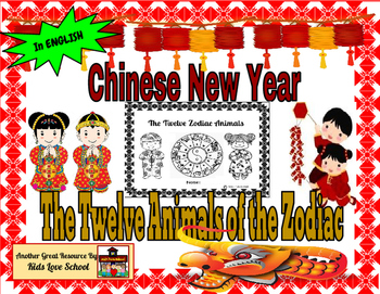 Chinese New Year Animal Zodiac Booklet in ENGLISH !