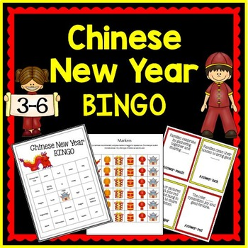 Chinese New Year BINGO {Great student notes!}