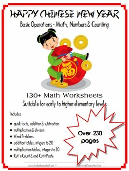 Chinese New Year Basic Maths, Numbers and Counting Workshe