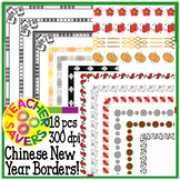 Chinese New Year Borders Clip Set Commercial and Personal Use