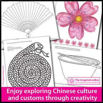 Chinese New Year 2020 Coloring Pages and Art Activities