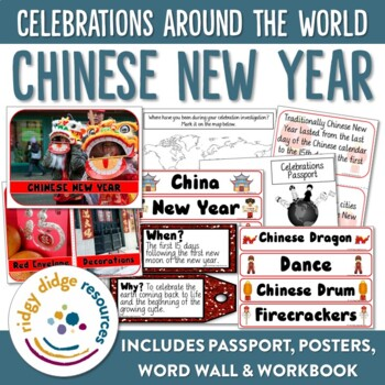 Chinese New Year Bundle - Bulletin Board Posters, Word Wal