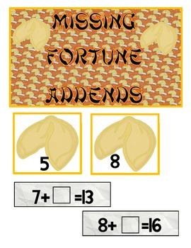 Chinese New Year Centers-Literacy and Math