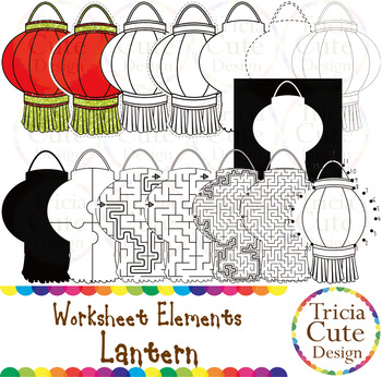 chinese new year clip art cny lantern worksheet elements