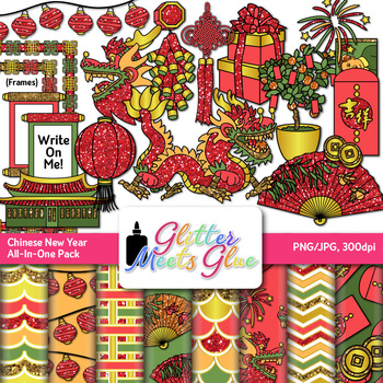 chinese new year clip art celebrate with dragons fireworks firecracker