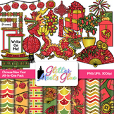 Chinese New Year Clip Art: Dragons & Fireworks Graphics {Glitter Meets Glue}