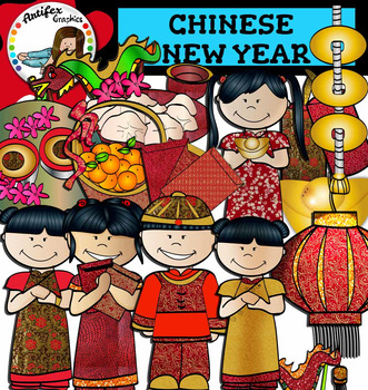 Chinese New Year Clip Art and zodiac animals!- Color/ blac
